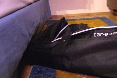 You can slide Car-Bags.com travel bags under the bed