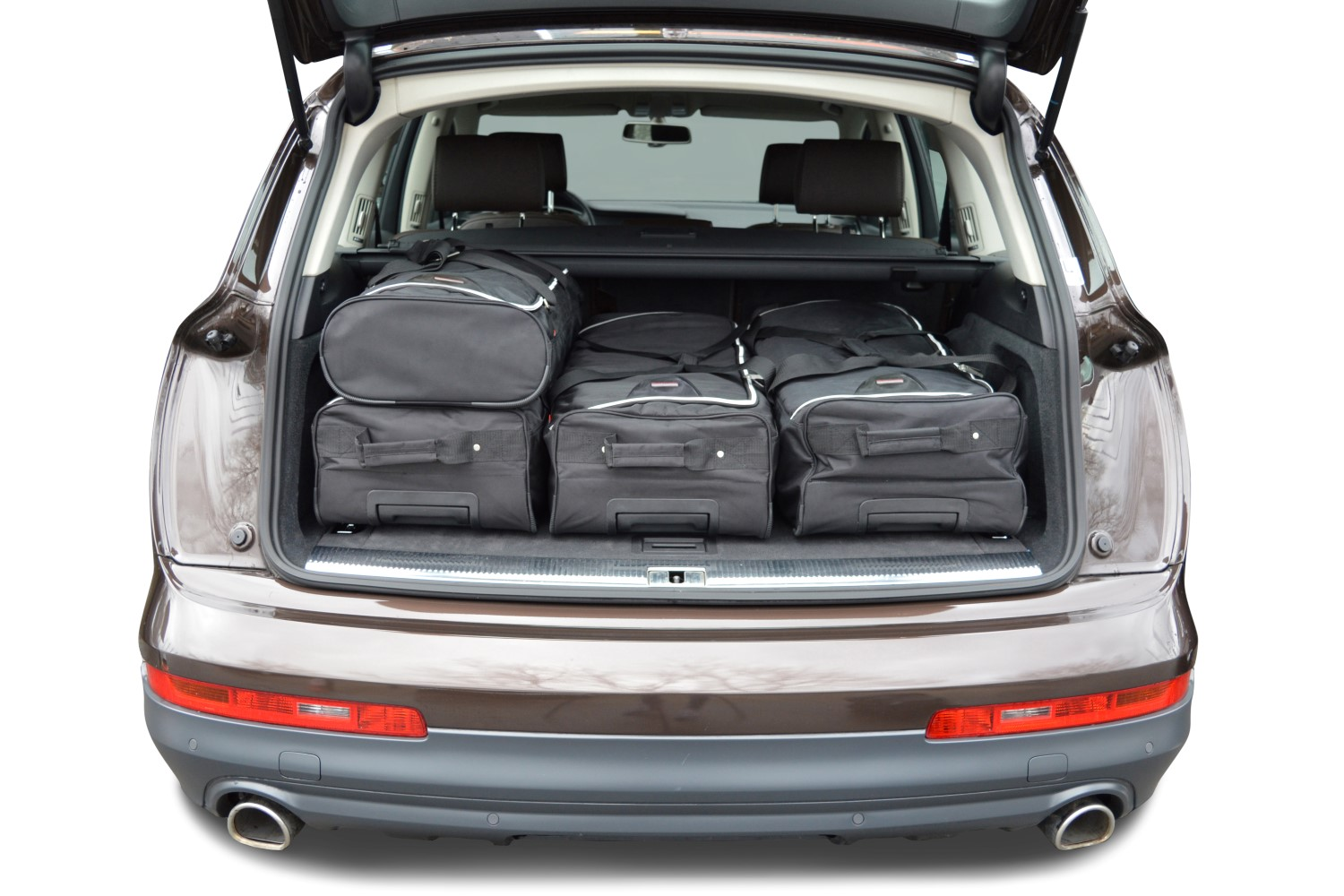 q7 audi q7 4l 2006 2015 car bags set de sacs de voyage. Black Bedroom Furniture Sets. Home Design Ideas