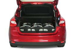 Ford Focus III 2011- 5 door Car-Bags.com travel bag set (2)