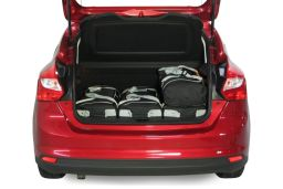 Ford Focus III 2011- 5 door Car-Bags.com travel bag set (3)