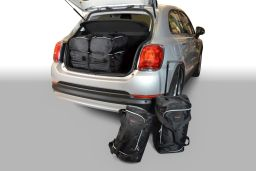 Fiat 500X 2015- 5 door Car-Bags.com travel bag set (1)