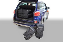 Fiat 500L 2012- 5 door Car-Bags.com travel bag set (1)