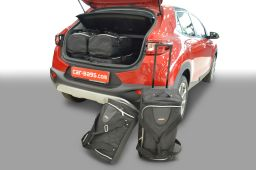Kia Stonic (YB) (without adjustable boot floor) 2017- Car-Bags.com travel bag set (1)