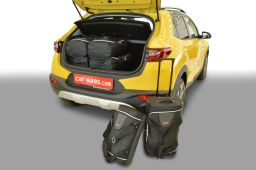 Kia Stonic (YB) (adjustable boot floor in highest position) 2017- Car-Bags.com travel bag set (1)