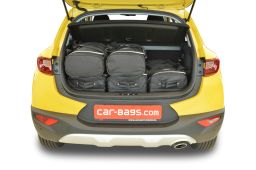 Kia Stonic (YB) (adjustable boot floor in highest position) 2017- Car-Bags.com travel bag set (3)