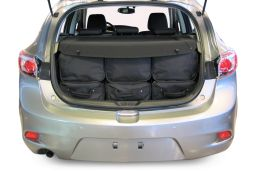 Mazda Mazda3 (BL) 2010-2013 5 door Car-Bags.com travel bag set (4)