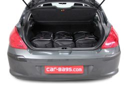 Peugeot 308 I 2007-2013 3 & 5 door Car-Bags.com travel bag set (2)