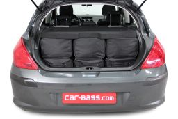 Peugeot 308 I 2007-2013 3 & 5 door Car-Bags.com travel bag set (4)