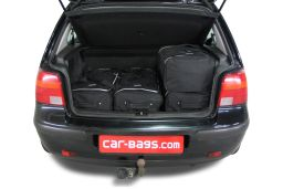 Volkswagen Golf IV (1J) 1997-2003 3 & 5 door Car-Bags.com travel bag set (3)