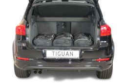Volkswagen Tiguan (5N) low boot floor 2007-2015 Car-Bags.com travel bag set (2)