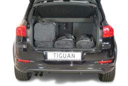 Volkswagen Tiguan (5N) low boot floor 2007-2015 Car-Bags.com travel bag set (3)