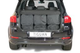 Volkswagen Tiguan (5N) low boot floor 2007-2015 Car-Bags.com travel bag set (4)