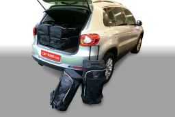 Volkswagen Tiguan (5N) high boot floor 2007-2015 Car-Bags.com travel bag set (1)